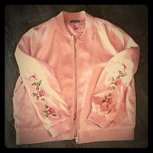 Lightweight silky pink jacket